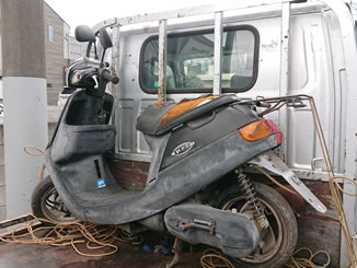川越市で無料で引き取り処分と廃車をした原付バイクのJOG アプリオ