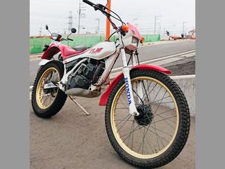 川越市で無料で引き取り処分と廃車をした200ccバイクのTLM200R