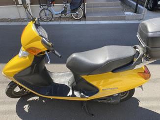 船橋市旭町1丁目で無料で引き取り処分と廃車をした原付バイクのスペイシー100