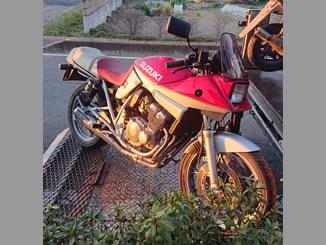前橋市で無料で引き取り処分と廃車をした250ccバイクのGSX250S 刀
