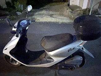 春日部市で無料で引き取り処分と廃車をした原付バイクのスマートDio