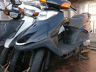 福生市で無料で引き取り処分と廃車をした原付バイクのスペイシー100