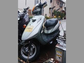 杉並区阿佐谷南3丁目で無料で引き取り処分と廃車をした原付バイクのJOG FI