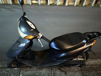 坂戸市で無料で引き取り処分と廃車をした原付バイクのリモコンJOG