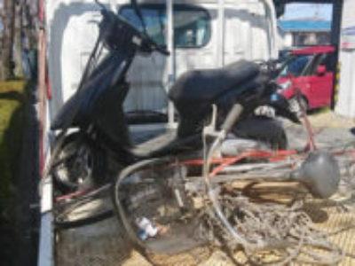 古河市本町4丁目で原付バイクのDioを無料引き取り処分と廃車