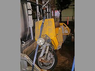 足立区皿沼1丁目で無料で引き取り処分をした原付バイクのジャイロUP