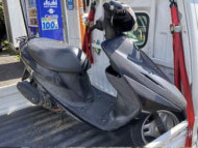 横浜市緑区上山で原付バイクのアドレスV50を無料引き取りと処分