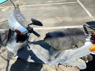 横浜市磯子区洋光台で無料で引き取り処分と廃車をした原付バイクのJOG アプリオ