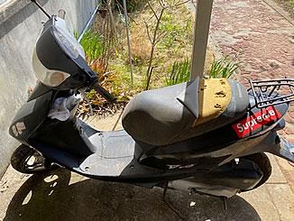 市川市柏井町で無料で引き取り処分と廃車をした原付バイクのDio/AF62