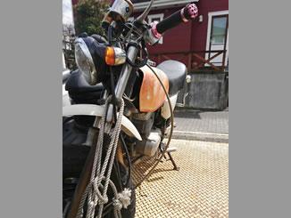八王子市七国で無料で引き取り処分と廃車をした原付バイクのエイプ50