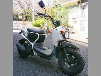 品川区小山台1丁目で無料で引き取り処分と廃車をした原付バイクのズーマー