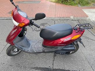 日野市万願寺で無料で引き取り処分と廃車をした原付バイクのJOG FI