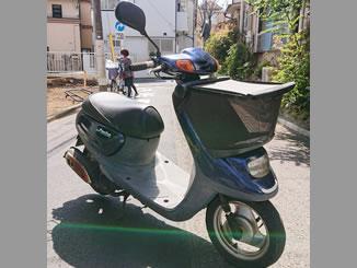 品川区荏原で無料で引き取り処分と廃車をした原付バイクのJOG ポルシェ