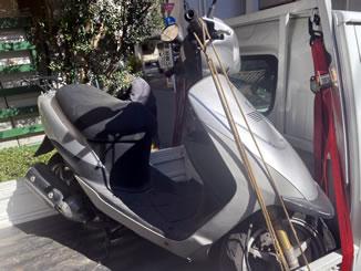 江東区東雲で無料で引き取り処分と廃車をした原付バイクのスズキ ZZ