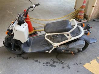 船橋市宮本で無料で引き取り処分と廃車をした原付バイクのホンダ スーマー