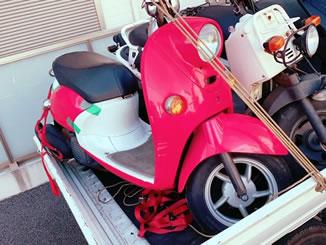 船橋市前原東で無料で引き取り処分と廃車をした原付バイクのビーノ
