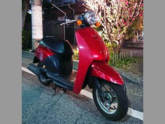千葉市中央区新宿2丁目で無料で引き取り処分と廃車をした原付バイクのトゥデイ