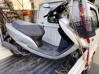 板橋区大和町で無料で引き取り処分と廃車をした原付バイクのDio(4サイクル)