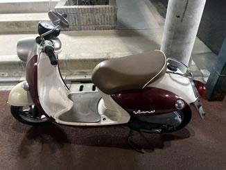 板橋区大谷口北町で無料で引き取り処分と廃車をした原付バイクのビーノ FI