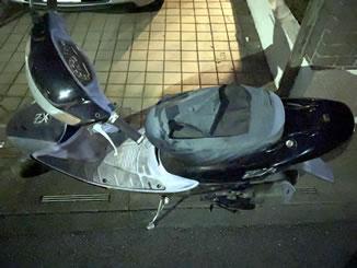 さいたま市見沼区大谷で無料で引き取り処分と廃車をした原付バイクのライブDio ZX
