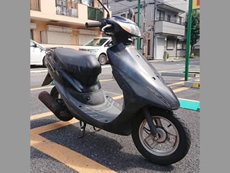 立川市砂川町で無料で引き取り処分と廃車をした原付バイクのライブDio S