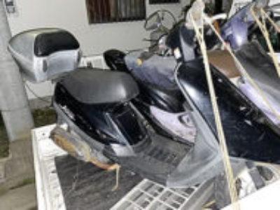 春日部市薄谷で原付バイクのJOGを無料引き取り処分と廃車