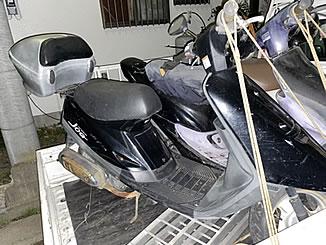春日部市薄谷で無料で引き取り処分と廃車をした原付バイクのJOG
