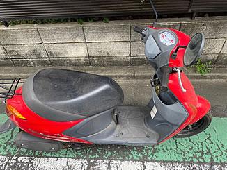 世田谷区給田で無料で引き取り処分と廃車をした原付バイクのレッツ5G