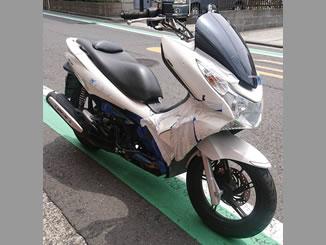 横浜市港北区菊名で無料で引き取り処分と廃車をした原付バイクのPCX125