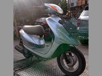 藤沢市鵠沼桜が岡3丁目で無料で引き取り処分と廃車をした原付バイクのJOG FI