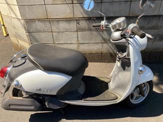 所沢市下安松で無料で引き取り処分と廃車をした原付バイクのビーノ FI