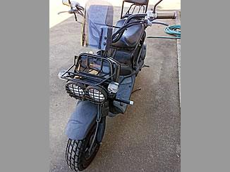 常総市菅生町で無料で引き取り処分と廃車をした原付バイクのズーマー カスタム車