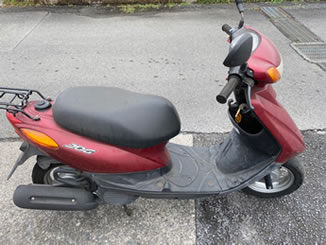 福生市熊川で無料で引き取り処分をした原付バイク JOG FI