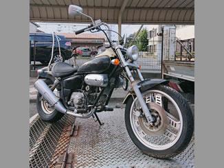 前橋市天川大島町で無料で引き取り処分と廃車をした原付バイクのマグナ50