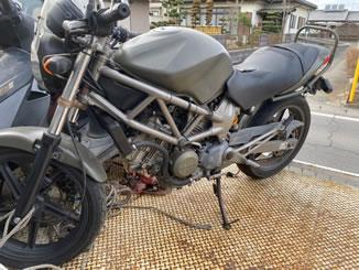 益子町で無料で引き取り処分と廃車をした250ccバイクのVTR250