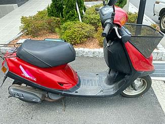 八潮市大瀬で無料で引き取り処分と廃車をした原付バイクのJOG ポシェ