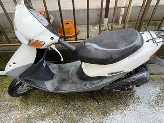 足立区柳原で無料で引き取り処分と廃車をした原付バイクのライブDio J