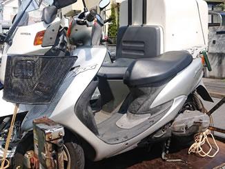 町田市木曽西で無料で引き取り処分と廃車をした原付バイクのJOG/CV50R