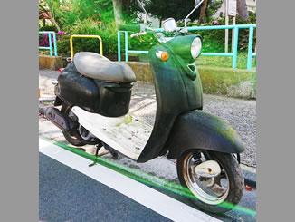 足立区扇で無料で引き取り処分した原付バイクのビーノ2スト