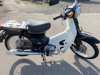 那須烏山市で無料で引き取り処分と廃車をした原付バイクのスーパーカブ50 カスタム
