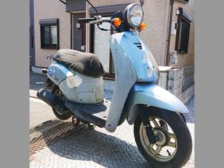 所沢市北所沢町で無料で引き取り処分と廃車をした原付バイクのトゥデイ
