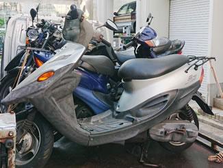 大田区西馬込で無料で引き取りをした原付バイクのBJ
