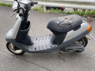 町田市木曽東で無料で引き取り処分と廃車をした原付バイクのアプリオ ナチュラル