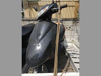 川口市里で無料で引き取り処分と廃車をした原付バイクのDio FI