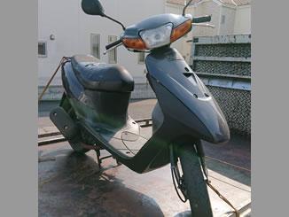 川口市安行領根岸で無料で引き取り処分と廃車をした原付バイクのレッツ2 STD