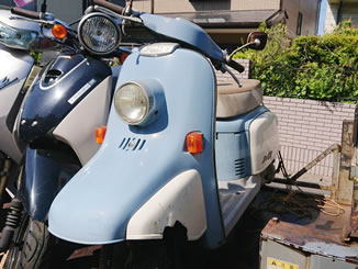 八千代市で無料で引き取り処分と廃車をした原付バイクのジュリオ