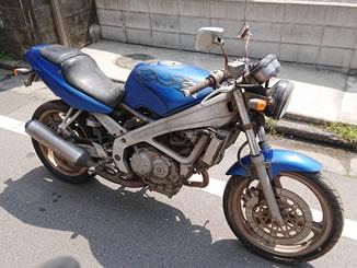 川崎市宮前区南平台で無料で引き取りと廃車をした250ccバイクのVT250スパーダ