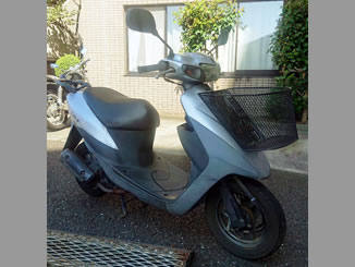 町田市小川で無料で引き取り処分と廃車をした原付バイクのレッツ2 コンビ
