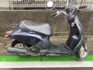 草加市草加で無料で引き取り処分と廃車をした原付バイクのトゥデイ