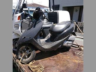 川崎市多摩区南生田で無料で引き取り処分と廃車をした原付バイクのDio
